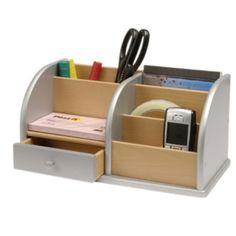 Osco Business Essentials Desk Organiser - Silver - Staples