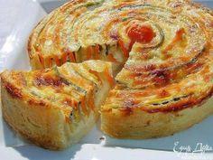 "Tarta de Vegetales ""Otoño Sol"" - Recetas Judias Veggie Dishes, Veggie Recipes, Cooking Recipes, Cocina Light, Vegetable Pie, Kinds Of Pie, Yummy Food, Tasty, Russian Recipes"