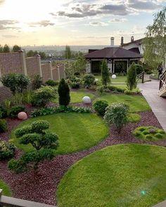 Backyard Garden Landscape, Garden Yard Ideas, Garden Landscape Design, Small Garden Design, Outdoor Landscaping, Front Yard Landscaping, Lawn And Garden, Back Gardens, Outdoor Gardens