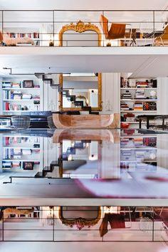 Floor to ceiling book case