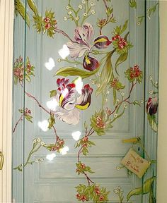 Ideas for painting bedroom doors beautiful When One Door Closes, Hand Painted Furniture, Painted Doors, Painted Bedroom Doors, Painted Walls, Paint Designs, Wall Murals, Decoupage, Artsy