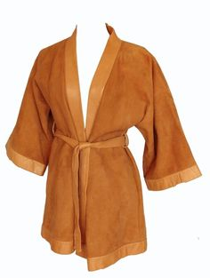 Bonnie Cashin Sills Kimono Jacket & Belt Camel Suede & Leather RARE 60s VTG M  | eBay