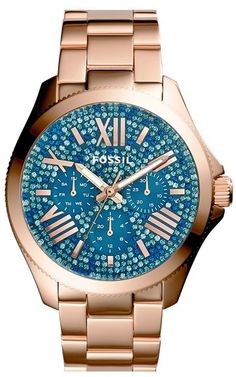 Fossil 'Cecile' Pavé Dial Multifunction Bracelet Watch, 40mm on sale now, $111