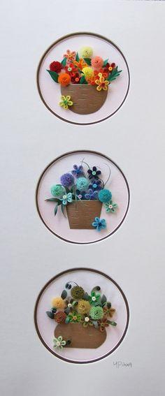 Flower Basket II, 16.5 x 7 x 1.3 inches