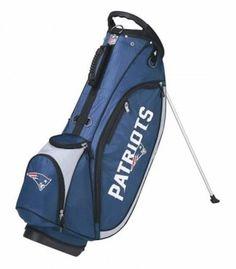 Wilson NFL Carry Golf Bag w/ Stand New England Patriots, Royal/White WGB9750NE