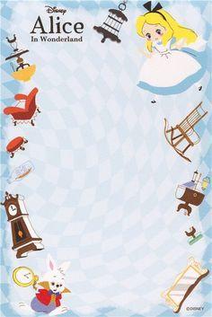 Alice in Wonderland Memo Pad with cards - Japan 4 Disney Scrapbook, Scrapbooking, Sentimental Circus, Alice In Wonderland Tea Party, Mad Hatter Tea, Adventures In Wonderland, Note Paper, Disney Wallpaper, Alice In Wonderland