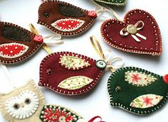 #BYU Women's Conference - Christmas Ornaments.  I think these are so pretty.  A bit different from the usual handmade ornament.