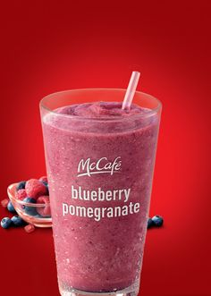 Blueberry Pomegranate Smoothie at McDonalds