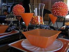 love orange there s more to love about this color than the hue, flowers, home decor, Did you know Each year Americans consume enough Brach s Candy Corn that if laid end to end would circle the earth 4 25 times These too can make a whimsical centerpiece http bit ly SPQkkF