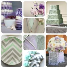 Mint, Lilac and Grey wedding colour scheme... Oh my gosh this is perfect! My favorite colors!