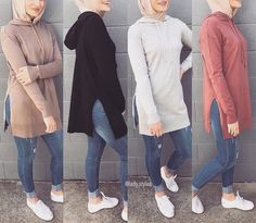 Hoodies and oversized sweaters with hijab – Just Trendy Girls Casual Hijab Outfit, Hijab Chic, Modern Hijab Fashion, Muslim Fashion, Moda Hijab, Hijab Jeans, Hijab Style Tutorial, Stylish Hoodies, Hijab Stile
