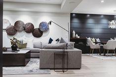 Auburn Bay Basement // Smith Erickson Designs - Miter Renovations & Design Cozy Basement, Basement Living Rooms, Modern Basement, Basement House, Basement Makeover, Basement Finishing, Basement Renovations, Basement Decorating Ideas, Basement Ideas