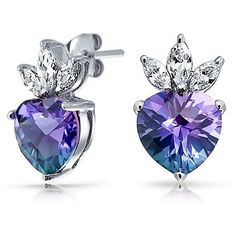 Bling Jewelry Bling Jewelry Color Cz Heart Crown Stud Earrings 925... ($40) ❤ liked on Polyvore featuring jewelry, earrings, multiple colors, colorful stud earrings, tri color earrings, crown stud earrings, cubic zirconia stud earrings and cubic zirconia earrings