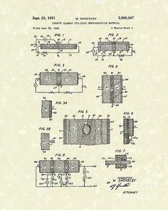 Transistor Patent Electrical Circuit 1951 Patent Art #patentart #electronics #transistor #invention