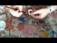 Tutorial come realizzare degli orecchini con cartoncino e filo da ricamo - YouTube