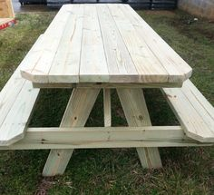 Picnic Table and tables starting at 175 & up by McCorkleDesigns Outside Furniture, Outdoor Furniture, Outdoor Picnic Tables, Farmhouse Furniture, Wood Work, Picnics, Diy Wood, Remodeling Ideas, Boating