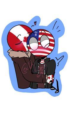 Canada Country, Comics Love, America And Canada, Human Art, Country Art, Hetalia, Dragon Ball Z, Youtubers, The Unit