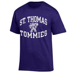 Purple Champion Tee with Tomcat cotton blend ($15.99) St Thomas, Champion, Purple, Tees, Cotton, Mens Tops, T Shirt, How To Wear, Fashion