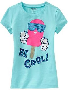 Shop fun graphic tees for your girl at Old Navy. From various styles and designs, Old Navy is the only place you need to upgrade her wardrobe. Boys T Shirts, Cute Shirts, Kids Girls Tops, Cool Graphic Tees, Girl Sketch, Maternity Wear, Shirt Style, Old Navy, Kids Fashion