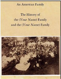 Personalized Genealogy/Family History Book by lorixle on Etsy https://www.etsy.com/listing/58875850/personalized-genealogyfamily-history