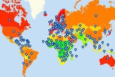 Plot international locations