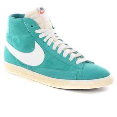 "Nike Blazer Hi Suede Shoes. ""Breakfast at Tiffanys"" guy style."