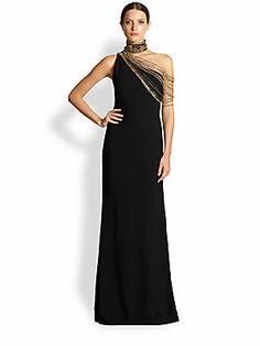 Ralph Lauren Collection One-Shoulder Ernestine Gown
