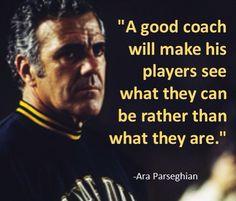Ara Parseghian (5/21/1923)-(8/2/2017) Nd Football, College Football Coaches, Fighting Irish, Notre Dame, Coaching, Training