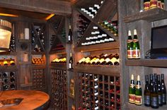 Wine room shelving