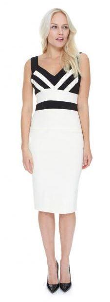 Karlie Cream & Black Pencil Dress #theprettydress