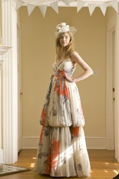 BHLDN dress –LOVE the idea of a floral or other pattern...fear the shape wouldn't be so hot on my small frame.