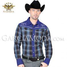 Camisa Vaquera  El General Western Wear 40530 Royal Blue