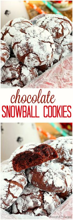 Super soft and super fudgy, these chocolate snowball cookies will blow your mind! Packed with double chocolate goodness, they will be a favorite year round!