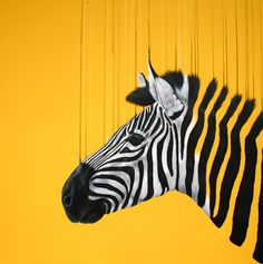 Fragmented Freedom Yellow art print by Louise Mcnaught Yellow Art, Mellow Yellow, Zebra Art, Spray Paint On Canvas, Wildlife Art, Affordable Art, Animal Paintings, Saatchi Art, Pop Art