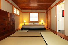 Modern meets Western in this Silver Lake Home. 2nd & 3rd bedrooms combined and turned into a traditional Japanese Tatami room.