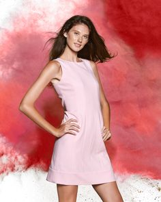 43a7b354ea Red Fleece Wool-Blend Twill Shift Dress Brooks Brothers