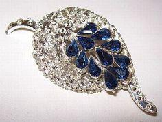 Designer Brooch Pin Sapphire Blue Teardrop by BrightgemsTreasures, $34.50