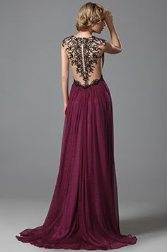Stunning V Neck Delicate Embroidery Evening Gown Prom Dress (02152217) - USD 281.63