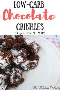 My Chocolate Crinkles are the go-to holiday treat! They're made with coconut flour, making them low-carb! They're sugar-free and a THM:S!