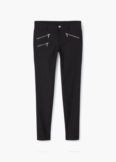 Zip-pocket slim-fit trousers   MANGO