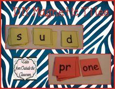 Classroom DIY: DIY Magnetic Letter Tiles  www.classroomdiy....
