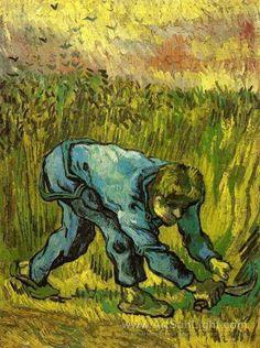Vincent Van Gogh - The Reaper (after Millet), 1889
