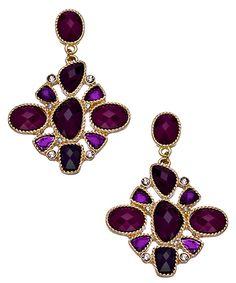 Blu Bijoux Gold with Red Chandelier Earrings
