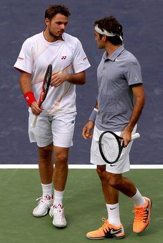Dobles: Roger Federer y Stanislas Wawrinka @JugamosTenis