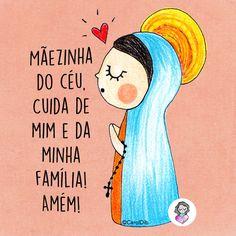 Mãezinha do céu, cuida de mim e da minha família! Amém! #nossasenhora #sementinhascorderosa #caroldib