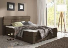 Manželská postel RITO 160 comfort savana hnědá s matrací