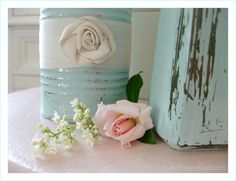 Pretty shabby home decorating with a simple DIY painted craft! Learn more at foxhollowcottage.com