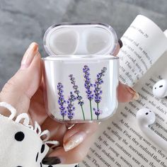 Iphone 11 Discover Lavender AirPods Case Custom Personalized Cover For Apple Air Pods Apple Headphones Case floral AirPod case clear AirPods Cases Personalized Cute Cases, Cute Phone Cases, Iphone Cases, Iphone 11, Coque Ipad, Airpods Apple, Apple Case, Accessoires Iphone, Air Pods