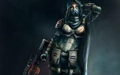 Sci Fi Women Warrior  Wallpaper
