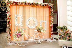 Indian Wedding Indian Wedding Ideas Photos booth for Sangeet Jago Mehndi backdrop Wedding Hall Decorations, Wedding Reception Backdrop, Marriage Decoration, Wedding Entrance, Wedding Mandap, Wedding Photo Booth, Backdrop Decorations, Wedding Table, Wedding Ideas